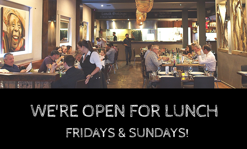 Open for lunch: Express Churrasco on Fridays + Traditional Churrasco on Sundays
