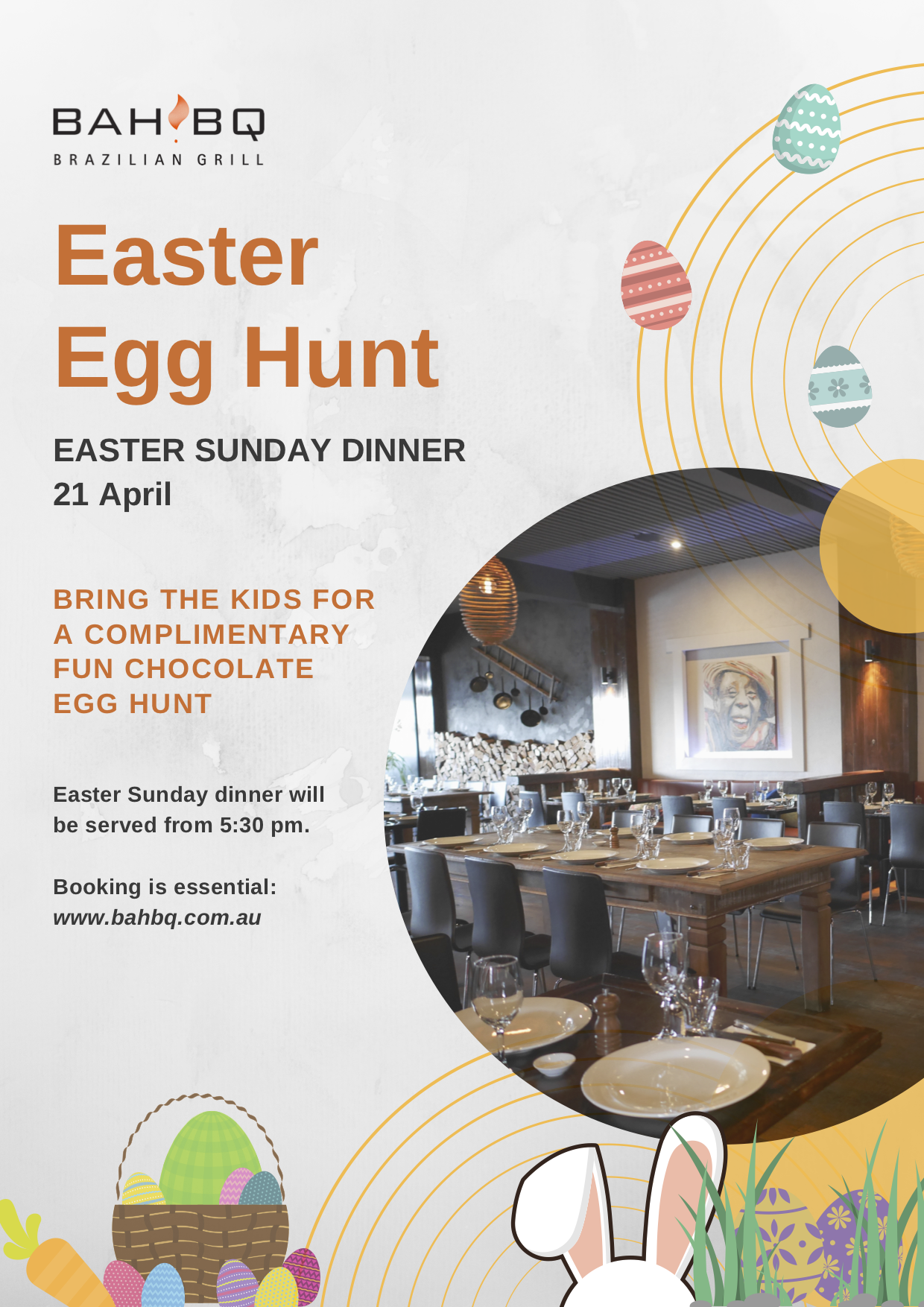 Kids Easter Egg Hunt at BahBQ