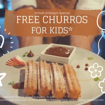 school holidays special churros